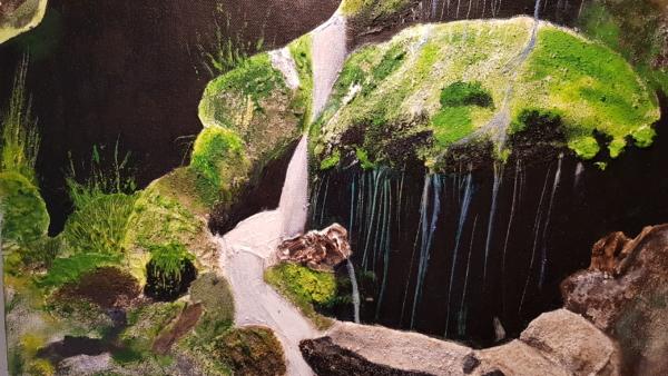 detail van het schilderij Norsk foss